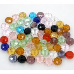 25 perles rondelles en verre à facette 6 x 4,5 mm