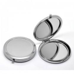 Miroir de poche couleur argent