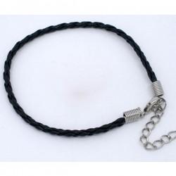Bracelet charm cuir longueur 20 cm