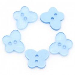 5 boutons papillon résine bleu ciei 16 x 13 mm 2 trous