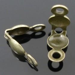 Cache-noeud 3 Trous 8 x 4 mm, couleur bronze - lot de 50