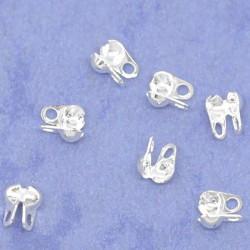 Cache-noeud 3 Trous 4 x 3,5 mm, couleur argent - lot de 50