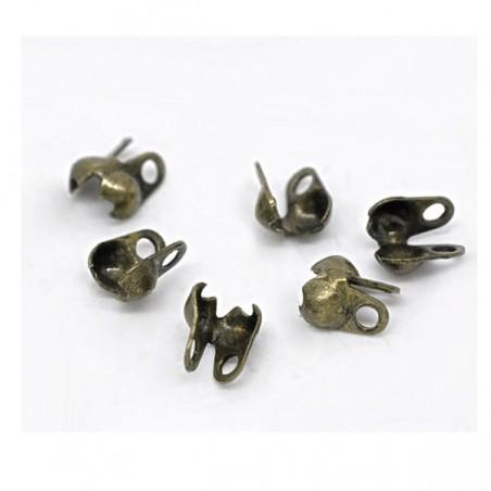 Cache-noeud 3 Trous 4 x 3,5 mm, couleur bronze- lot de 50