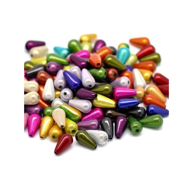 20 Perles magique goutte d'eau 10 x 6 mm