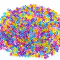 Perles intercalaires bicônes à facettes 4 x 4 mm