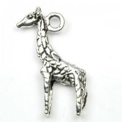 girafe en breloque argent veilli