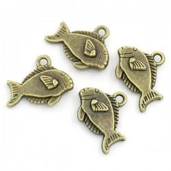 Poisson pendentif poisson rayé