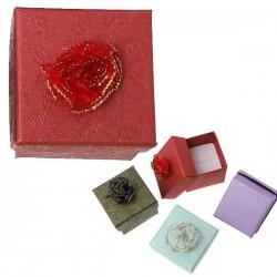 Boite écrin à bijou rouge 47 mm