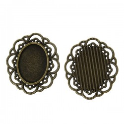 Support de cabochon, embellissement ovale 29 x 25 mm