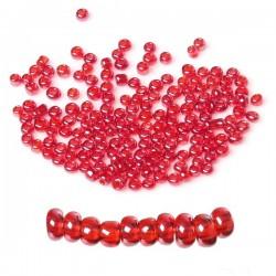 Perle de rocaille rouge en verre 3 mm