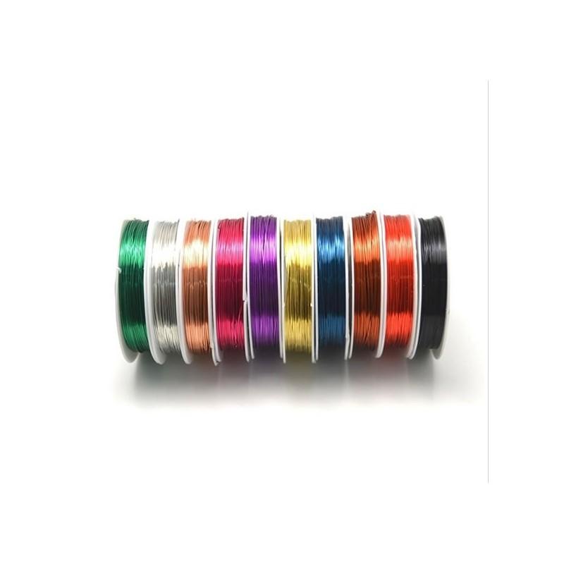 Fil de coivre pour la r alisation de bijoux couleurs au choix for Au fil des couleur