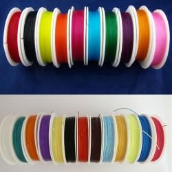 1 Rouleau fil élastique couleur, épaisseur0,8  mm