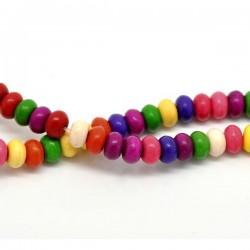 20 Perles en howlite blanche différents coloris