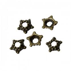 20 perles coupelle bronze 5 mm pour perle 6 mm et plus