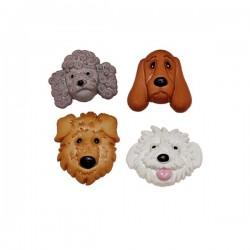 4 boutons chiens série 2