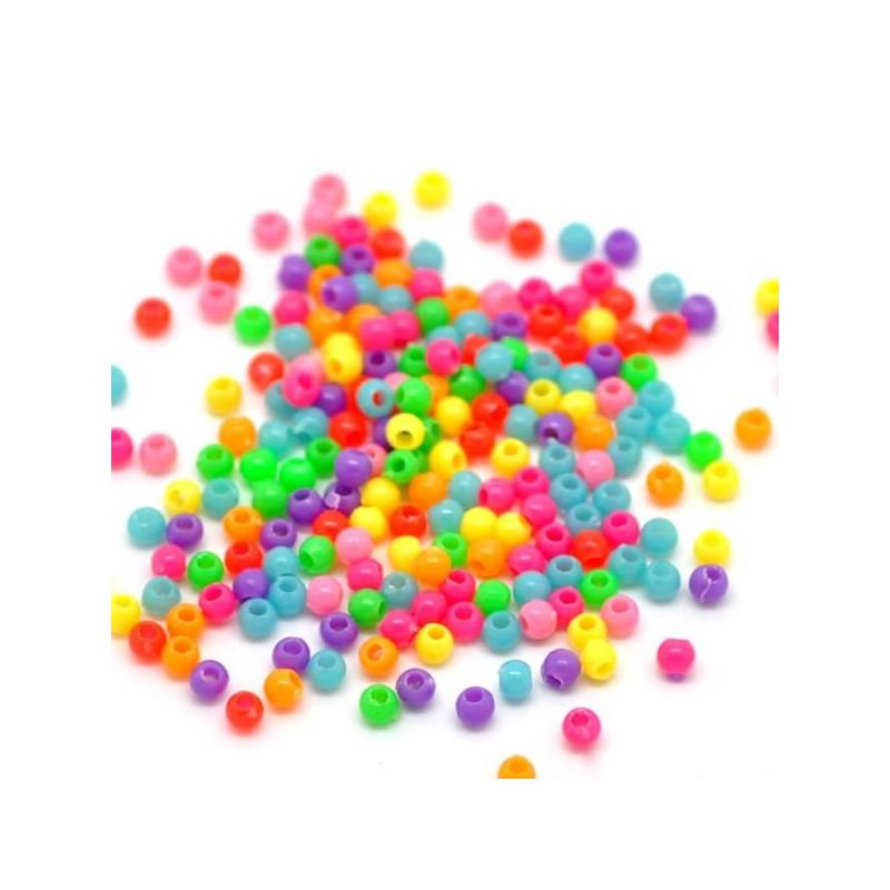 perles acryliques rondes mix couleur fournies en m lange de couleurs al atoire. Black Bedroom Furniture Sets. Home Design Ideas