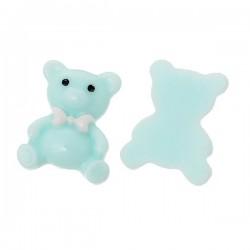 Ours bleu en résine 23 x 19