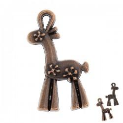 Girafe stylisée couleur bronze vieilli