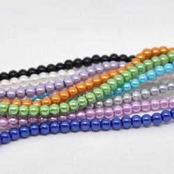 Perle verre 4 mm 10 couleurs au choix