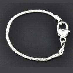 Bracelet charm style pandora bijou européen 18 cm