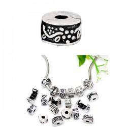 Fermoir clip pour bracelet style Pandora soleil