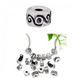 Fermoir clip pour bracelet style Pandora vague