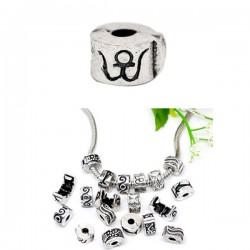Fermoir clip pour bracelet style Pandora oeil