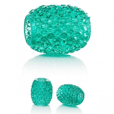 Perle résine turquoise style Pandora