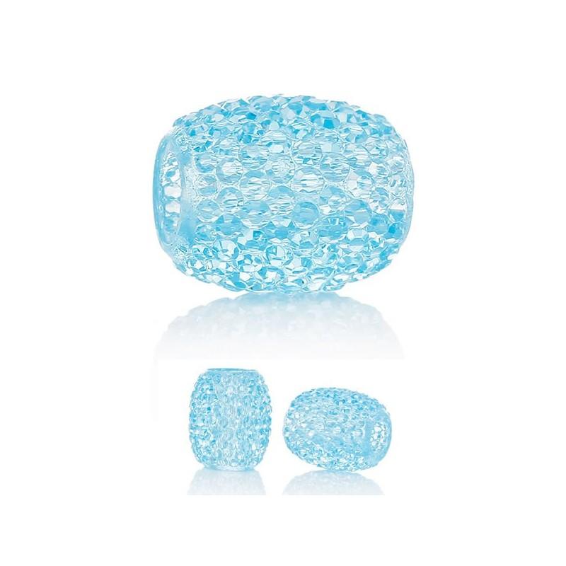 Perle résine bleu clair style Pandora