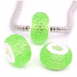 Perle résine vert style Pandora