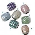 Perle Style Pandora forme tonneau plusieurs couleurs