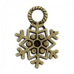 Flacon de neige (cristaux) breloque de charme Cuivre antique