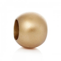 5 perles intercalaires dorées 20 mm gros trou