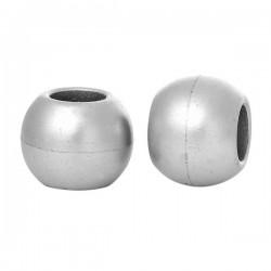 5 perles intercalaires argent 20 mm gros trou