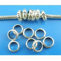 perle intercalaire anneau sculpté