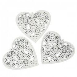 Pendentif bois en forme de coeur
