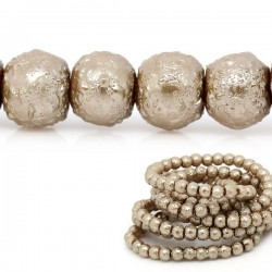 40 perles turquoise verre 4 mm aspect grainé