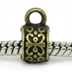 Bélière de charme  pour bijou européen tambour bronze