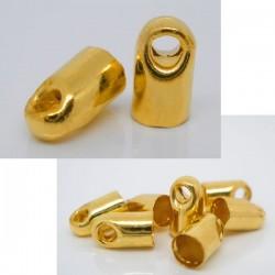 10 Embouts dorés à coller pour chaîne serpent