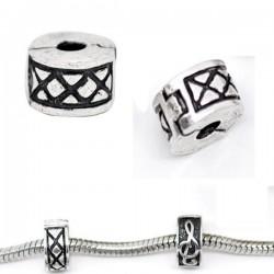 Fermoir stoppeur clip pour bracelet style Pandora nervures